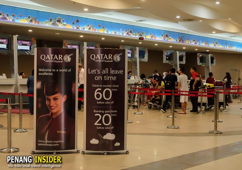 Qatar Airways direct flight from Penang to Doha