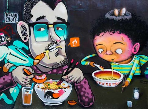 penang food street art