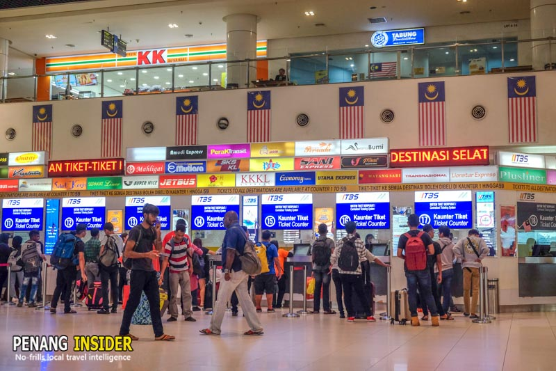kuala lumpur to penang by bus TBS bus station