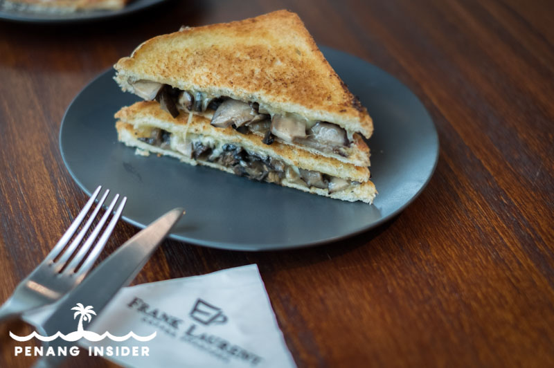 Frank Laurent Mr.Mush sandwich with caramelized mushrooms