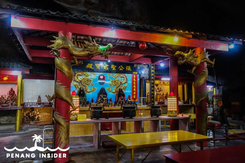 inside the Huat Tian Kong cave temple in Ipoh