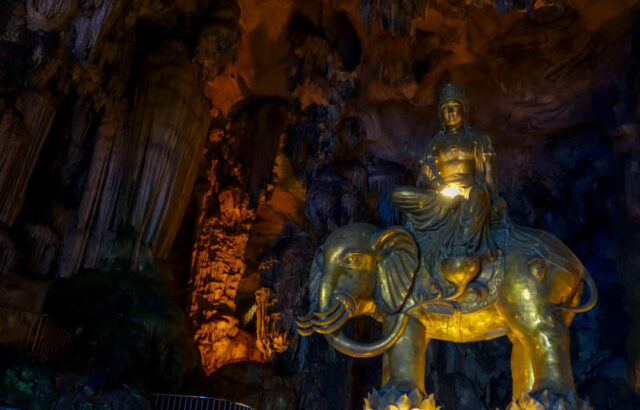 statue inside Kek Lok Tong, one of the best Ipoh Cave Temples