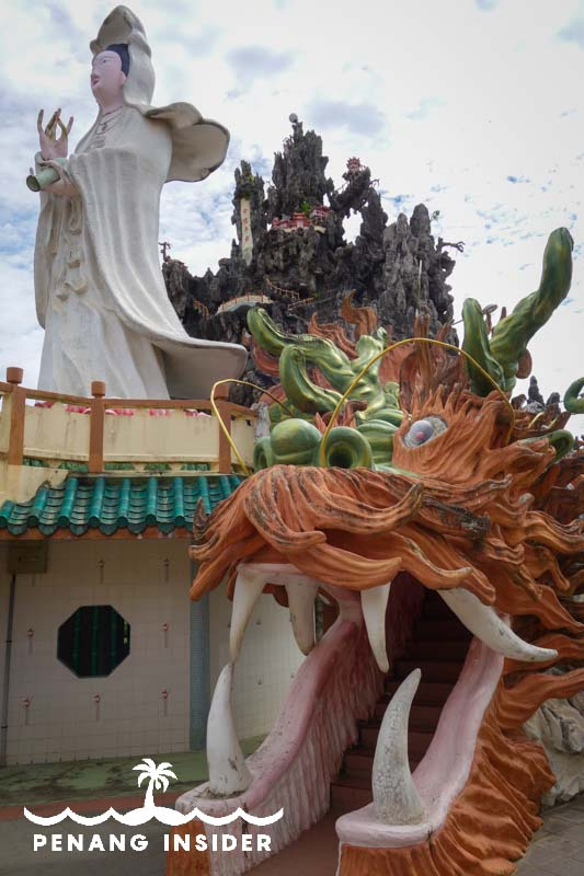 In Kuala Gula, a dragon mouth leads you to Goddess Kwan Yin