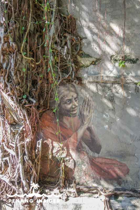 Penang Street Art Volchkova Indian Woman Under the Tree