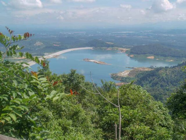 Mengkuang Dam from the top of Bukit Mertajam Seberang Perai hiking