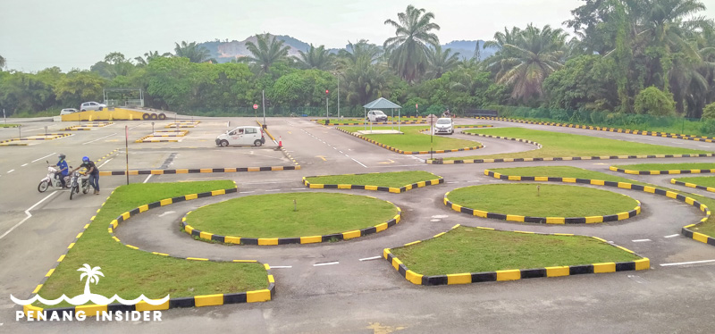 The driving range at Taman Melati in Bukit Minyak where I did my practical lessons to get a Malaysian Driving License.